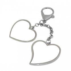 Kulcstartó 2 szívvel